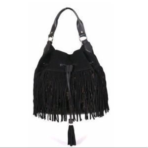 SAM EDELMAN Tyra fringe hobo bag